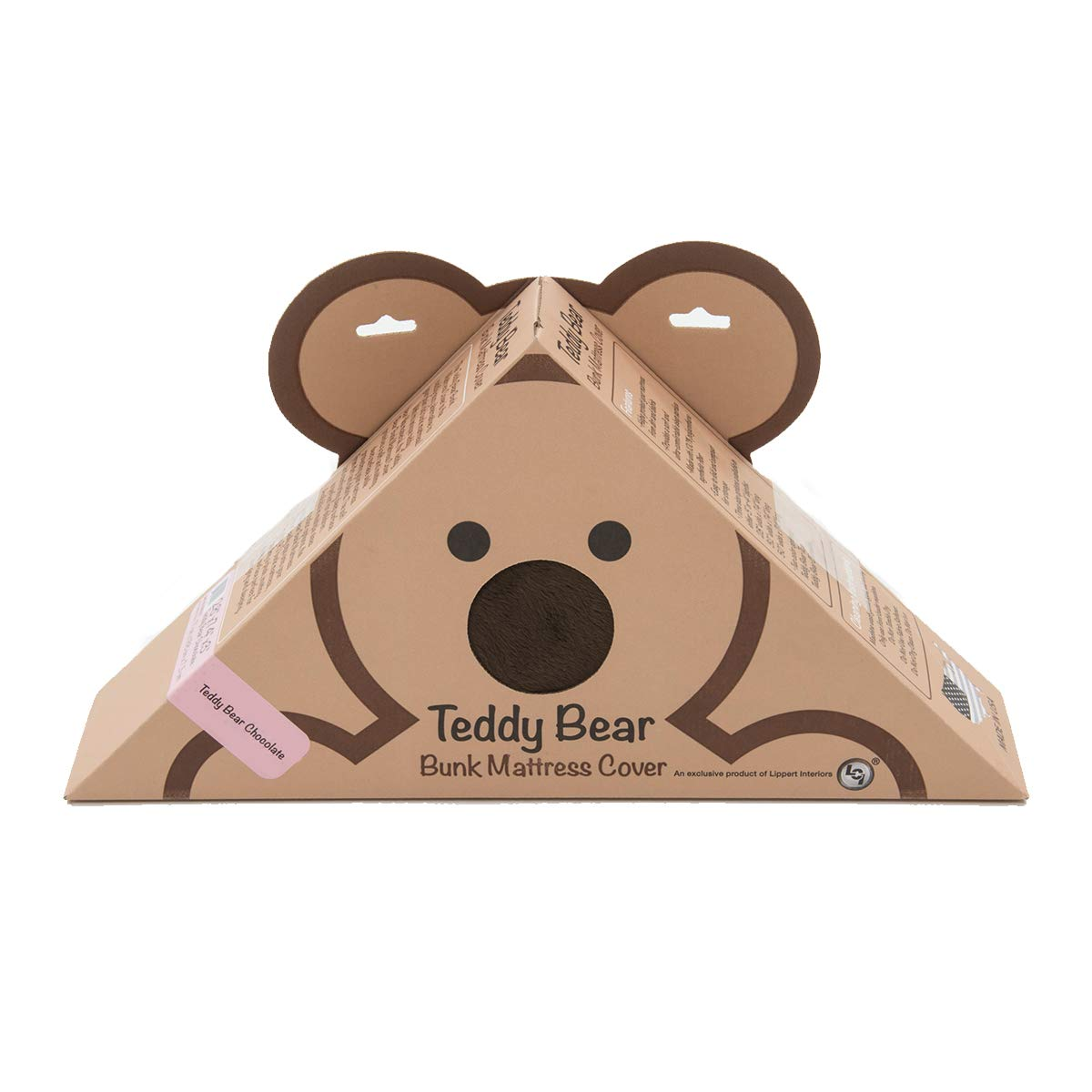 Lippert Components 679284 28'' x 74'' x 4'' Chocolate Teddy Bear Bunk Mat Cover by Lippert Components