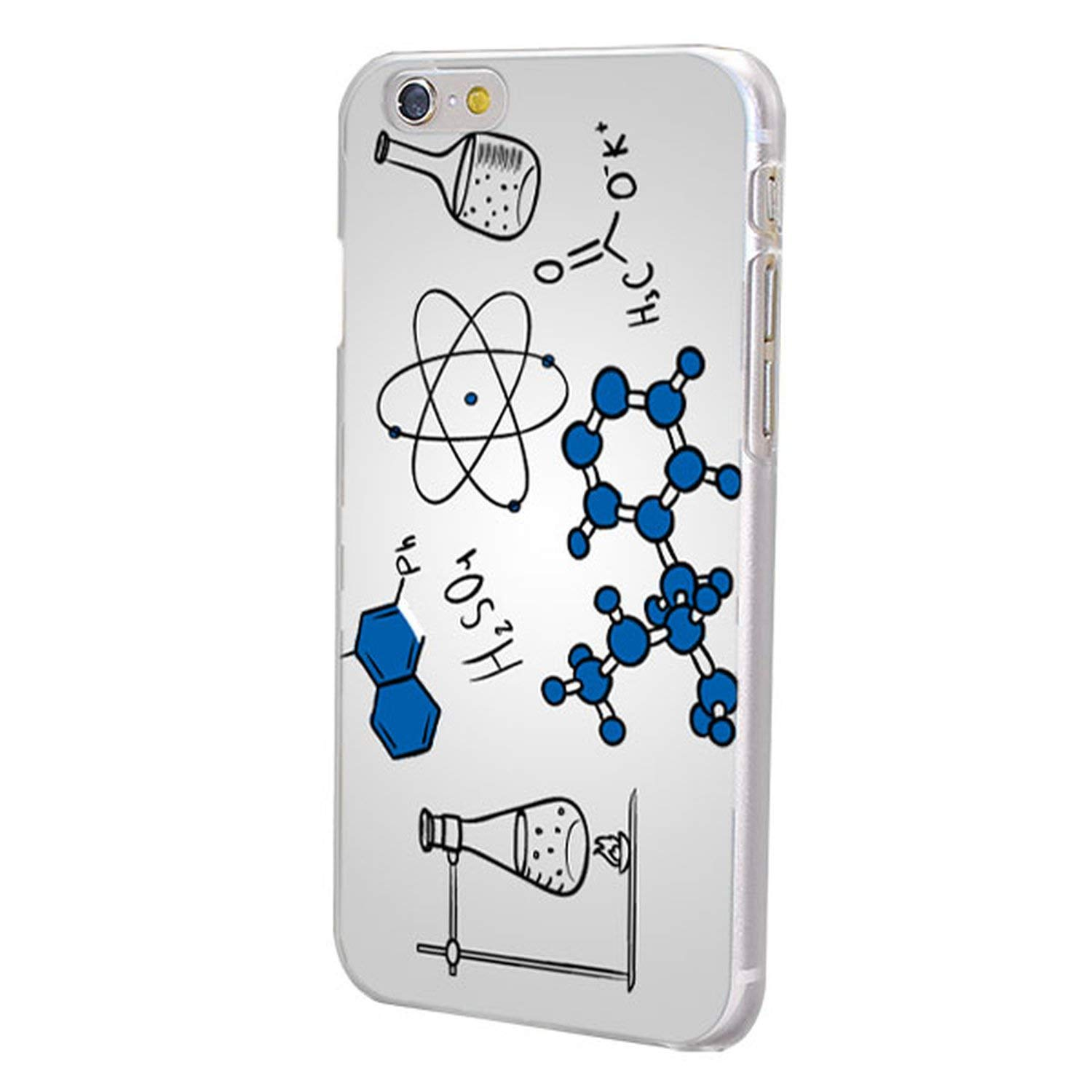 Chemistry Drawing Phone Case for X XS XR XS MAX Transparent Hard Phone Case Cover for iPhone 6 6s 7 8 Plus 6sPlus SE 5S-in Half,06,for iPhone SE