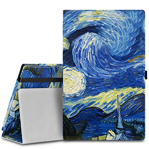 """MoKo Case for Fire HD 8 2015 [Previous 5th Gen ONLY] - Slim Folding Cover with Auto Wake/Sleep for Amazon Kindle Fire HD 8"""" Display Tablet (2015 Release, NOT FIT Fire HD 8 2016), Starry Night"""