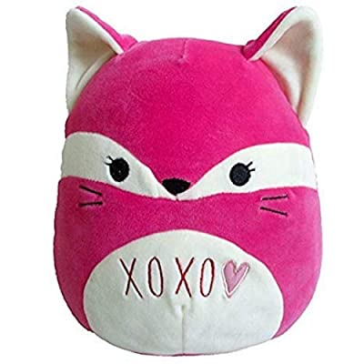 """Limited Edition Squishmallow Original Kellytoy Happy Love Day Edition with Heart 8"""" Stuffed Animal Pet Pillow (Pink Fox): Toys & Games"""