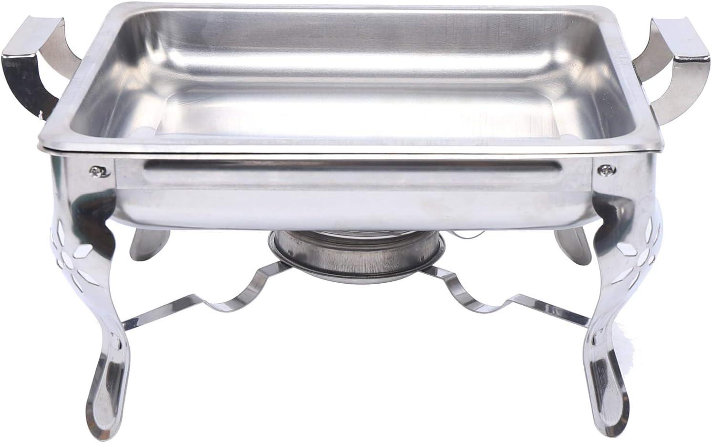 Chauffe-plat Aohuada Chauffe-plat 6 l en acier inoxydable Chauffe-plat R/écipient de conservation au chaud R/échaud carr/é 21 x 26 x 26 cm