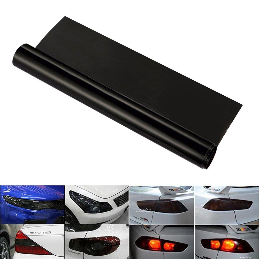 LIOOBO Film Phare Imperm/éable Autocollant pour Feux Arri/ère Feux de Brouillard Teinte Changer Couleur de La lumi/ère 40x60cm Noir Fonc/é