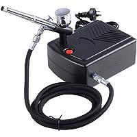 GaGa Mini Compressor Kit Airbrush Kit Dual Action Air Brush Kit Spray Gun Craft Tattoo 0.3mm, Cake Decorating, Nail Beauty, Painting