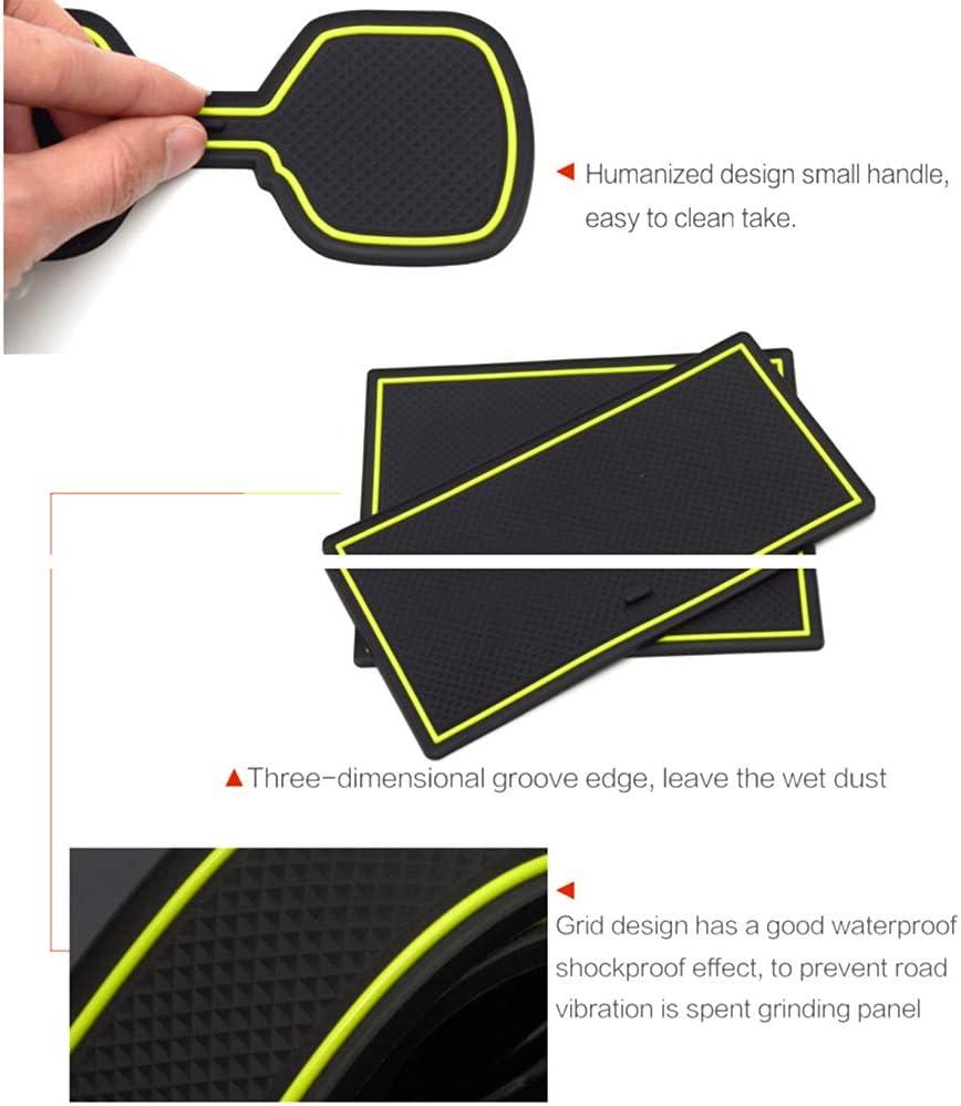 8Pcs Maite For Range Rover Evoque 2012-2015 Door Slot Mat Non-Slip Cup Holder Mats Gate Slot Storage Pad Car Interior Decoration