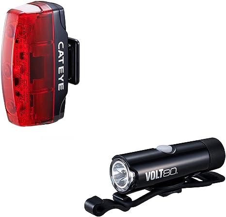 Cat Eye Micro Set-HL-EL050RC/TL-LD620 Volt 80 Juego de luz Frontal y Trasera para Bici – Negro: Amazon.es: Deportes y aire libre