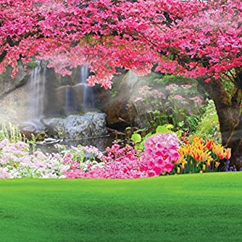 Amazon.com : 8x8ft Beautiful Spring Scenery Poly Fabric