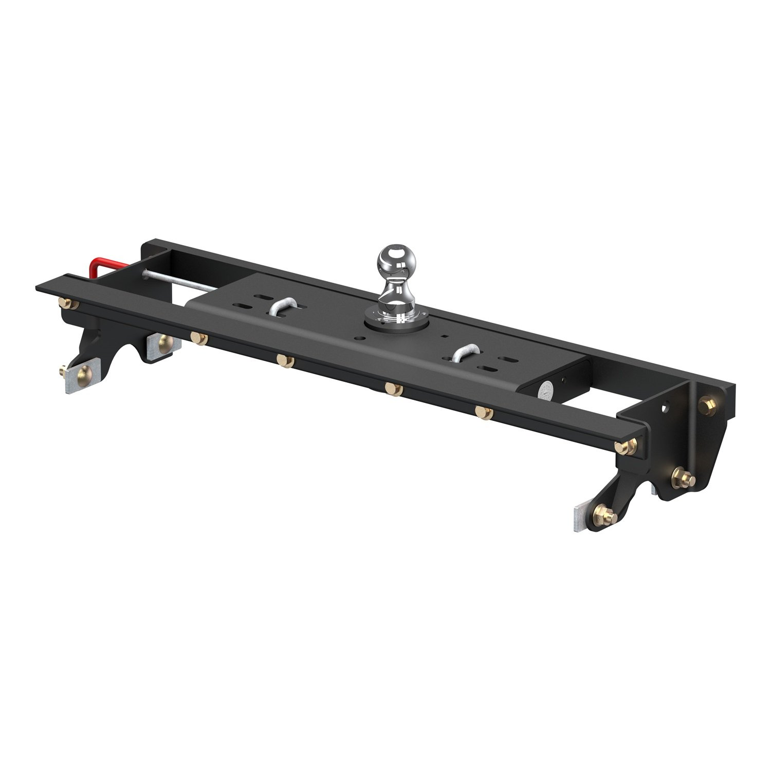 CURT 60724 Double Lock Gooseneck Hitch with Flip-and-Store Ball, 30,000 lbs., 2-5/16-Inch Ball, Fits Select Ford F-150