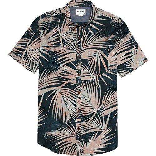 (Billabong Men's Palmdale Short Sleeve Woven Shirt, Mango, Large)