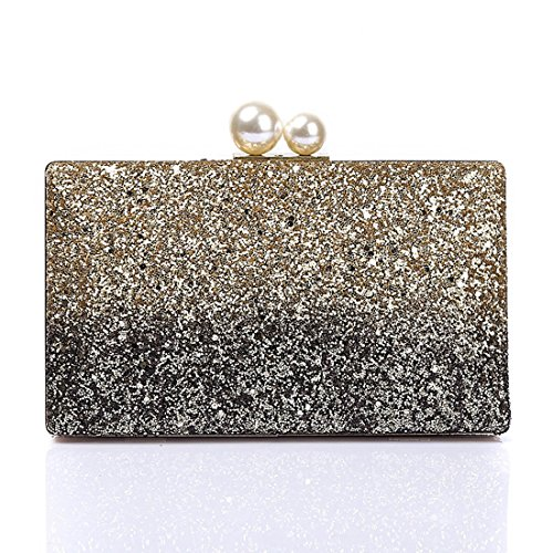 Wedding Bags Glitter Dance Party Clutch Evening for Women Purse Bride Handbag Prom Elegant Gold Evening Sparkling qPx8Y