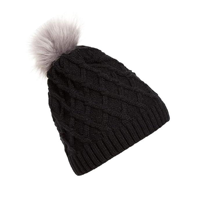 Winter Hats for Women Knit Hats Hat Fur Woolen Knit Beanie Warm Caps  Cappello invernale Drop df214d66ec79