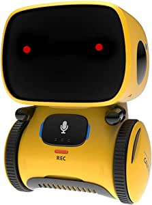 REMOKING Robot Toy for Kids,STEM Educational Robotics,Dance,Sing,Speak,Walk in Circle,Touch Sense,Voice Control, Your Children Fun Partners(Yellow)