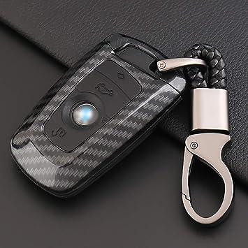 Ontto Fit To Car Key Cover Carbon Fiber Protective Key Fob Case For Bmw X1 X5 X5m X6 X6m Remote Protector Case Carbon Black Amazon Co Uk Car Motorbike