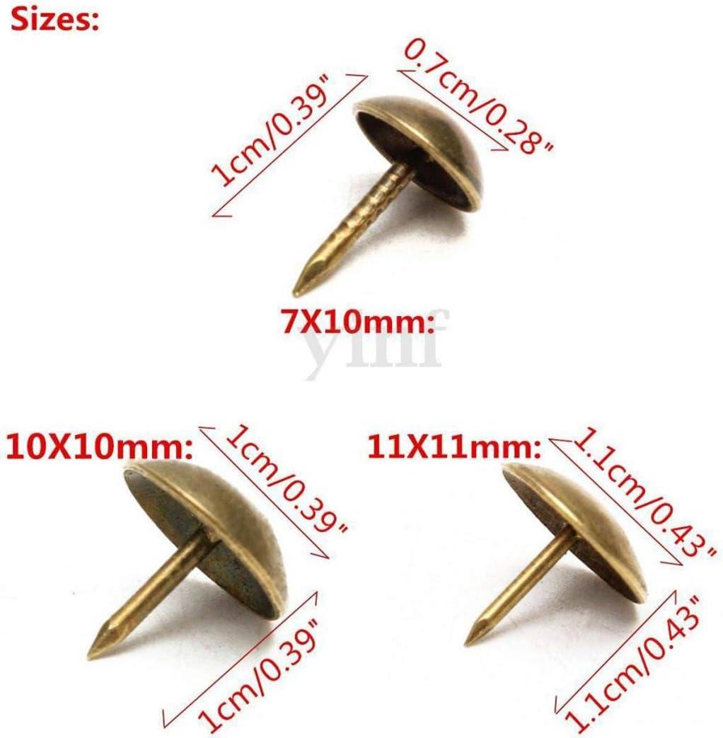 Myriad Choices 100xantique Polster N/ägel N/ägel M/öbeldekor Bronze Stehbolzen 11x11mm