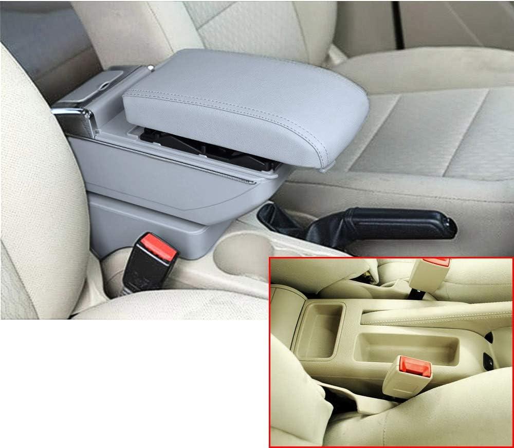 Für Bora Golf 4 Luxus Auto Armlehne Mittelarmlehne Mittelkonsole Zubehör Eingebaute Led Licht Grau Auto