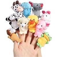 Lumanuby 10 pcs dedo juguetes Tiny granja suave