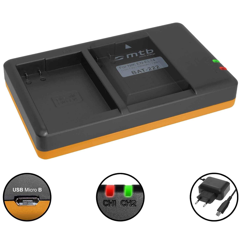 Cargador doble (Corriente, USB) EN-EL14(A) para Nikon DF ...