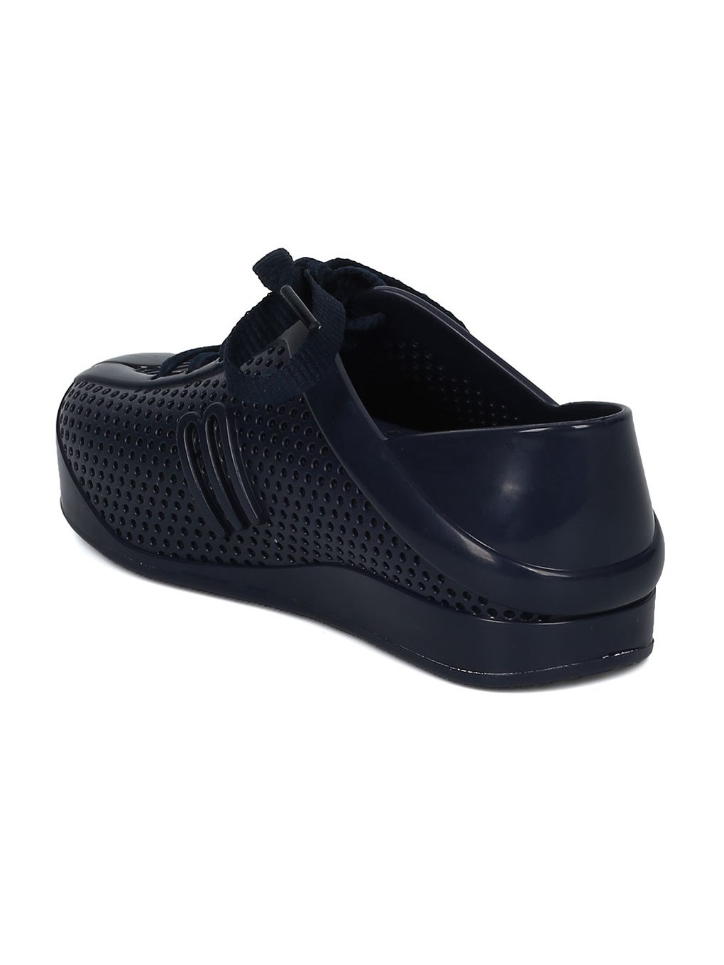 Melissa Mini Mini Love System PVC Perforated Lace up Sneaker HC08 - Navy Blue Mix (Size: Toddler 8) by Melissa (Image #3)