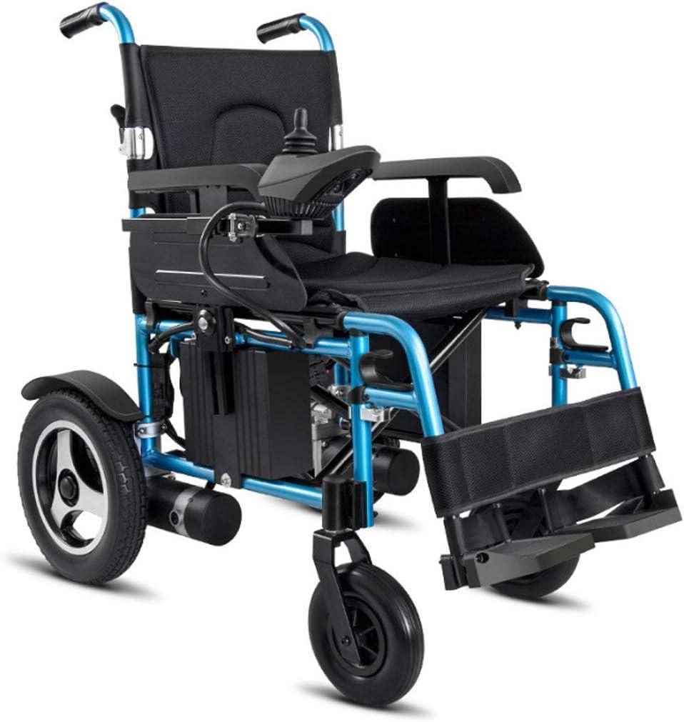 Mejor clasificación exclusiva deluxe silla de ruedas eléctrica motorizada plegable plegable silla de ruedas plegable, silla de ruedas eléctrica de transporte plegable ligero, potente motor dual
