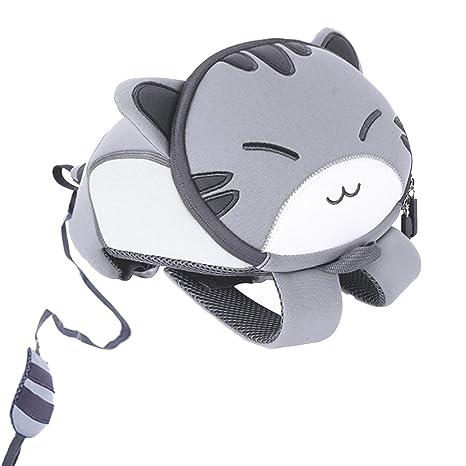 467b798f29 yisibo 3D Cartoon Kids Dinosaur Rocket Cat Backpack Grey  Amazon.co.uk   Luggage