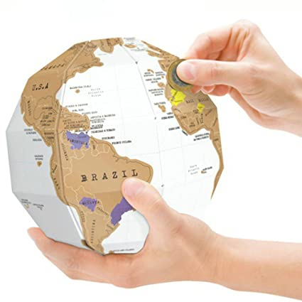 Amazon lifecom 3d scratch globe scratch off world map best lifecom 3d scratch globe scratch off world map best gift for trip planners gumiabroncs Image collections