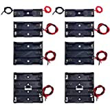 8 Pack AA Battery Holder Bundle with Wire 1 AA Battery Holder 1.5V, 2 Pcs, 2 AA Battery Holder 3V, 2 Pcs, 3 AA Battery Holder 4.5V, 2 Pcs, 4 AA Battery Holder 6V, 2 Pcs by QTEATAK
