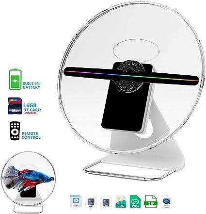 Aibecy Holograma 3D portátil Fan Proyector holográfico Digital ...