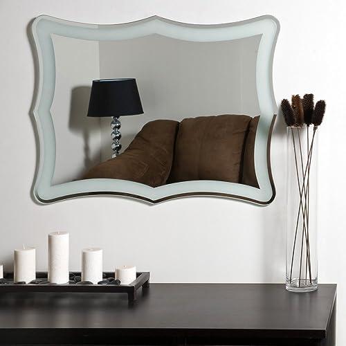 Decor Wonderland Coquette Modern Frameless Bathroom Mirror – 23.6W x 31.5H in.