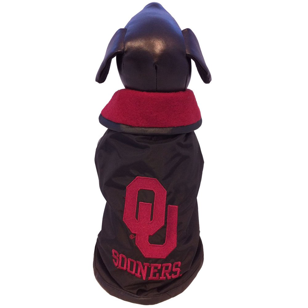 All Star Dogs NCAA Oklahoma Sooners All Weather Resistant Protective Dog Outerwear, Small