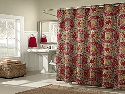 Amazon Mstyle MS7964 RUBY Kashmir Shower Curtain Ruby Home