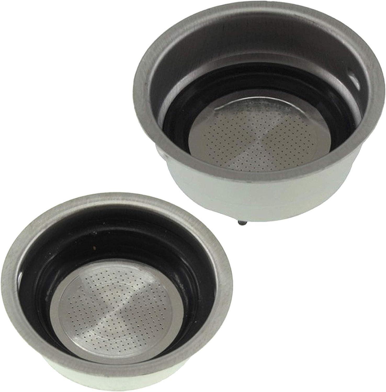 Spares2go - Filtro para cafetera Delonghi (pequeño, uno + dos tazas): Amazon.es: Hogar