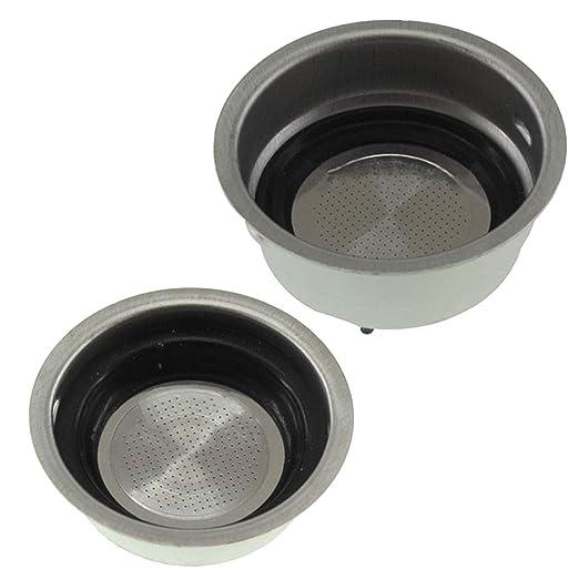 Spares2go - Filtro para cafetera Delonghi (pequeño, uno + ...