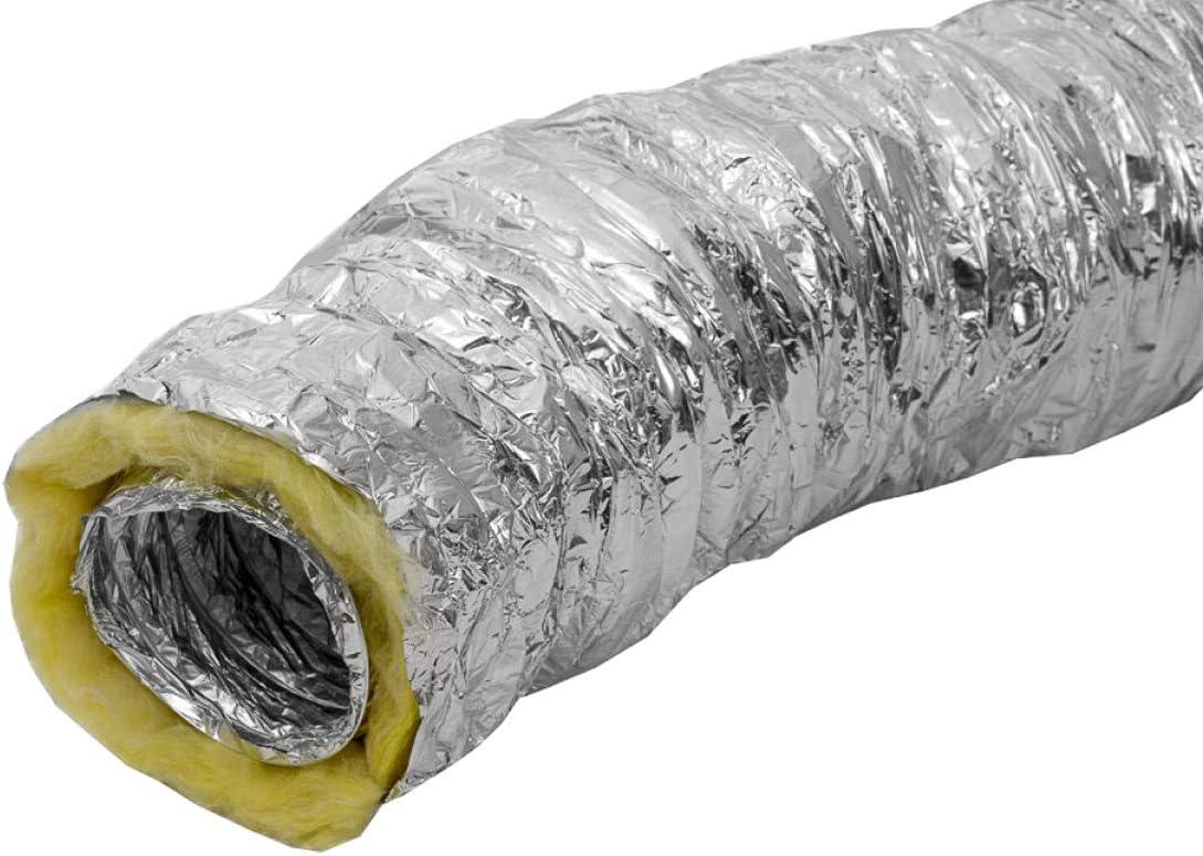 Weedness Abluftschlauch Isoliert Isoflexrohr 160 mm 1 Meter Sono Schallged/ämmt Schlauch Flexrohr L/üftungsrohr L/üftungsschlauch Klimaschlauch