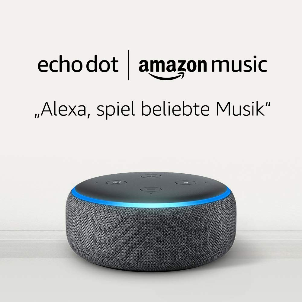 [amazon.de] Neukunden Amazon Echo Dot 3 Gen. + 1 Monat Music Unlimited um 8,98€ anstatt 46,95€