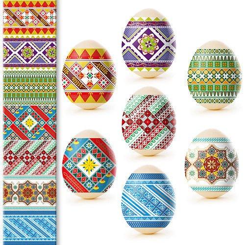 Pysanky Eggs - Egg Wraps - Easter Eggs - Heat Shrink Sleeve - Traditional Ornament