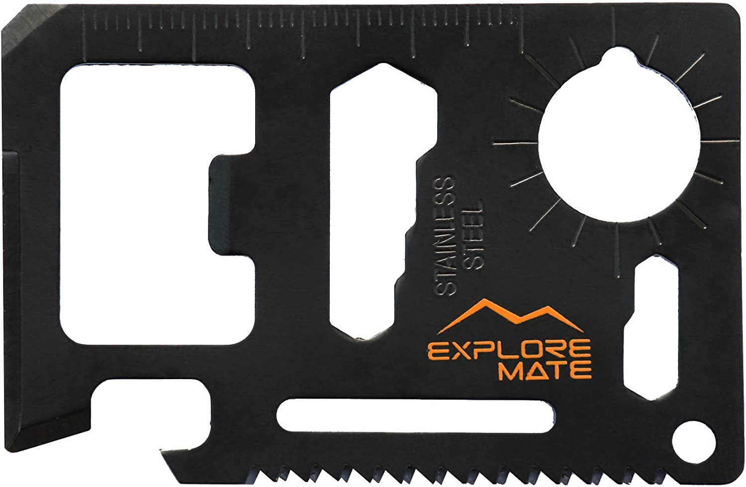 Explore Mate 11 in 1 Survival Card with a Beer Opener - Black