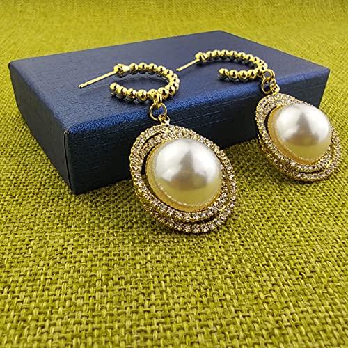 AZOKKA Pearl Earrings for Women,White Pearl Dangle Earrings for Girls, Pearl Imitation Statement Earrings As a Gift