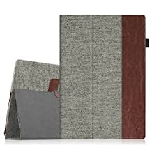 Fintie Microsoft Surface Pro 2017 / Surface Pro 4 Case - Premium PU Leather Folio Stand Cover w/ Stylus Holder for New Surface Pro / Surface Pro 4 3, Compatible with Type Cover Keyboard, Denim Grey