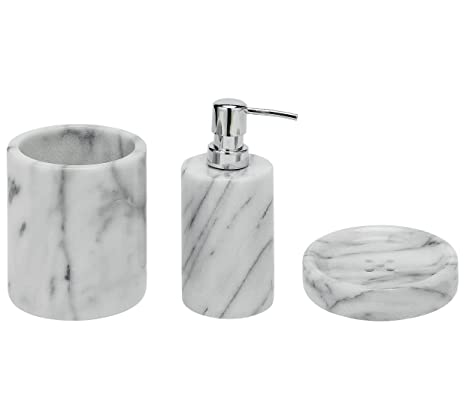 Accessori Bagno In Marmo.Heart Of House Accessori Da Bagno Marmo Amazon It Casa E