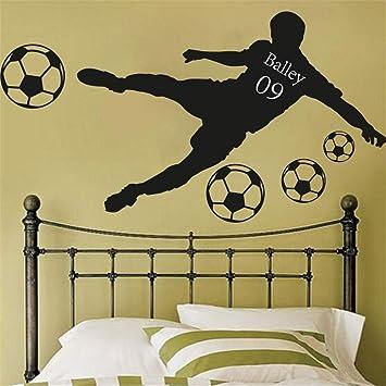 pegatina de pared pegatina de pared 3d Palabra Mapa Fútbol Balón ...