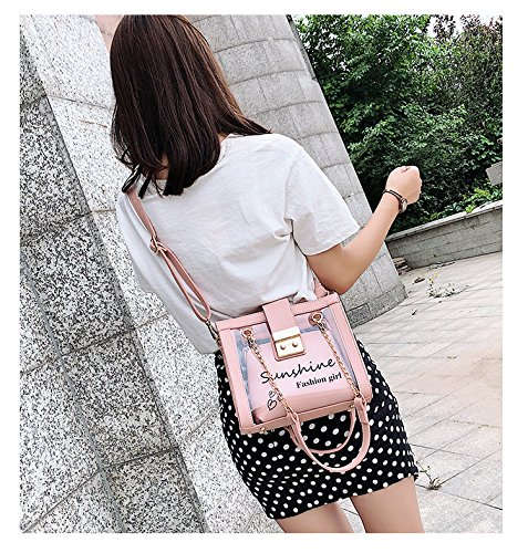 Messenger de Tote Package Shoulder pour main Satchel Pink gelée Sacs à transparent les de femmes Designer sac Crossbody fIwxaAPqnZ