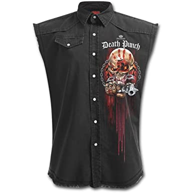 a85a0575ce3 Spiral Five Finger Death Punch Assassin - Mens Stone Washed Denim Workers  (M - 38