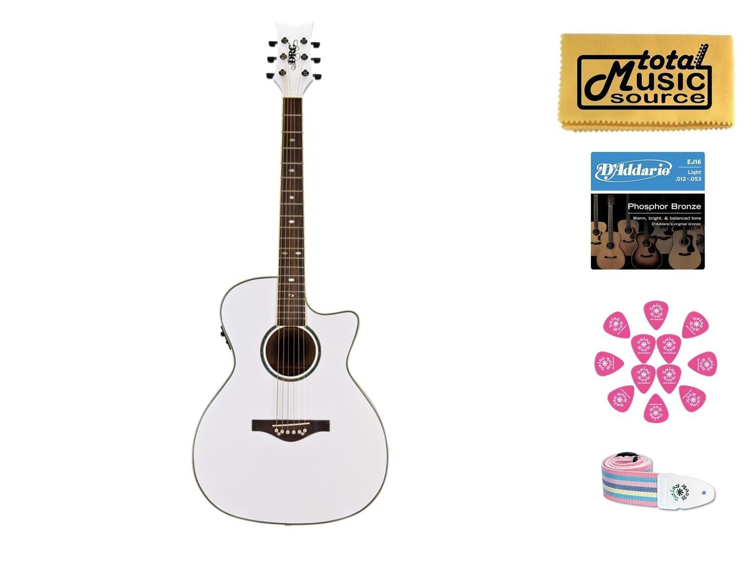 DAISY ROCK Wildwood Artist Acoustic Electric Guitar, Fishman, Pearl, 14-6274 by daisy rock