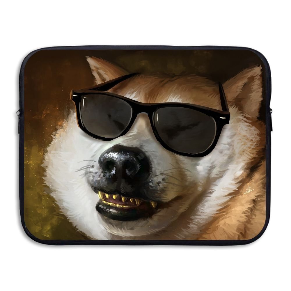 Mr.Roadman Laptop Sleeve Bag Dogs Painting Art With Glasses Briefcase Sleeve Bags Cover Computer Liner Case Waterproof Computer Portable Bags