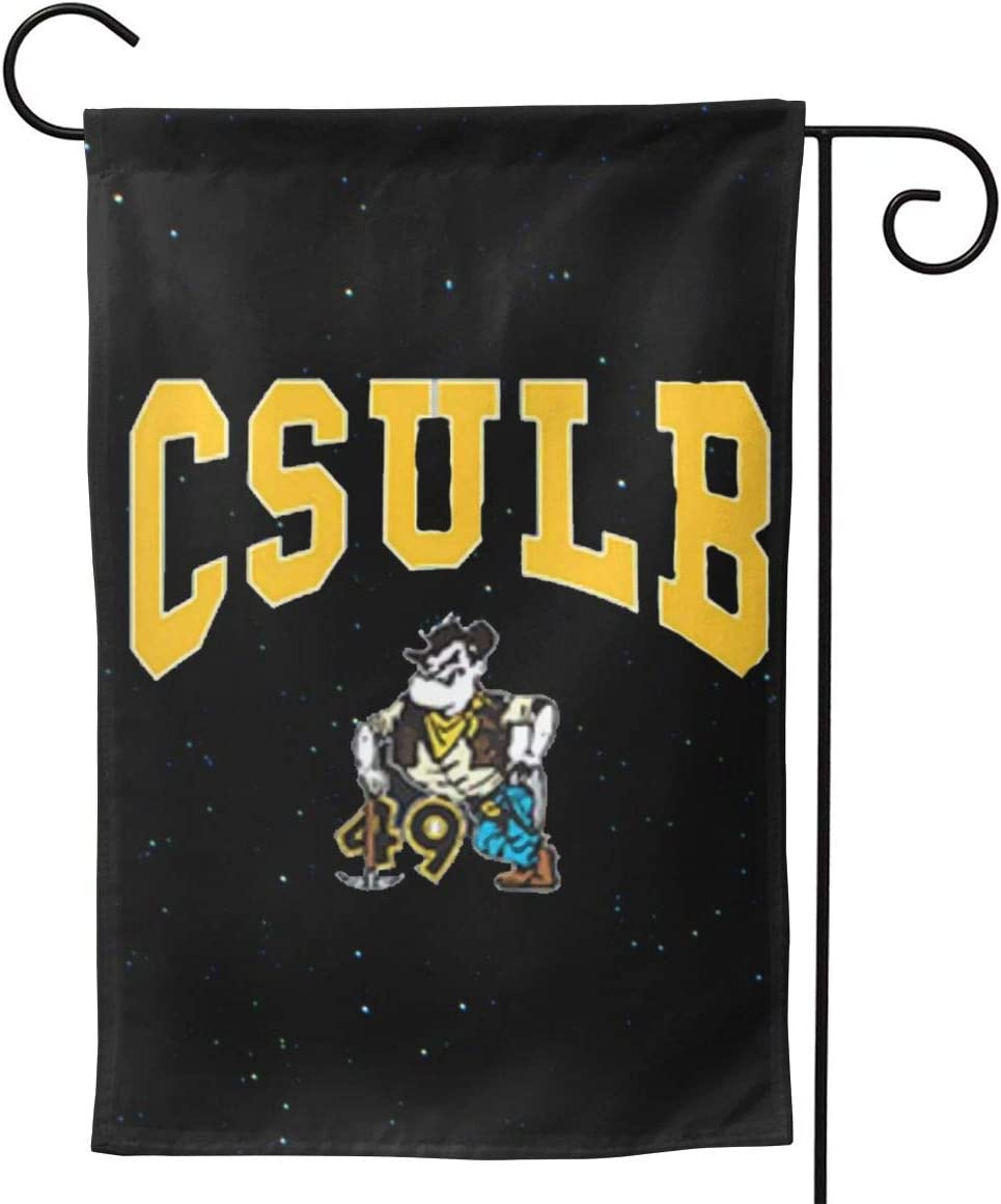 Sherrygeoffrey Csulb California State University Banner Double Sided Garden Flag