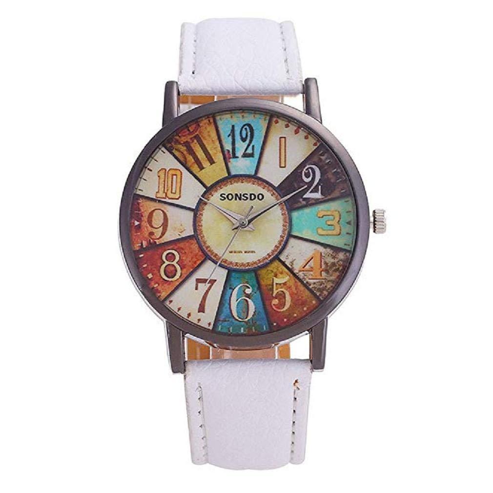 Promoción Relojes de Cuarzo para Mujer Modelo Retro Reloj de Pulsera de dial Digital Reloj de Pulsera de Cuero para Modelo de Moda de niñas Adolescentes ...