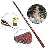 Carbon fiber fishing feeder rod telescopic pole spinning ultra light fish fishing rods stream carp rod 2.7-7.2Meter