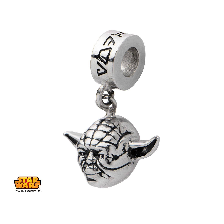 Amazoncom Star Wars Yoda Charm Bracelet Necklace Charm Bead