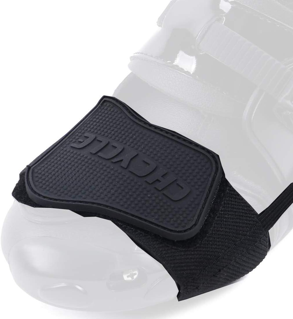 Madbike Accesorios de Cambio de Engranaje para Zapatos Botas de Motocicleta Protector (Black)