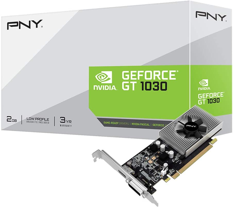 PNY GeForce GT 1030 2GB Graphic Card (VCGGT10302PB-BB)