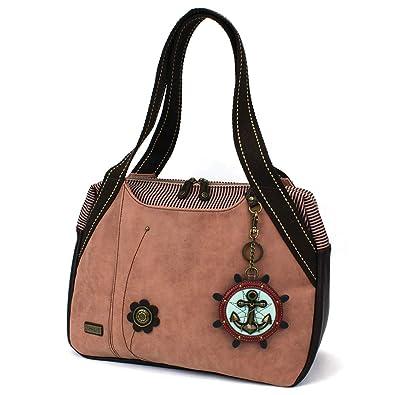 Amazon.com: Chala bolsos de mano polvo rosa bolso de hombro ...